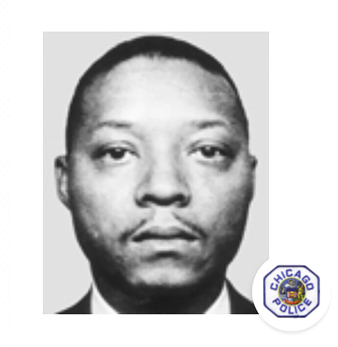 This undated photo provided by the Chicago Police Department shows Detective Young Clifton Hobson. On Wednesday, Jan. 20, 2021, David Walsh, a Chicago man who was paroled after serving less than 20 years for the 1968 murder of Hobson, was sentenced to life in prison for a 2018 bank robbery, according to the U.S. attorney's office. (Courtesy of Chicago Police Department via AP)