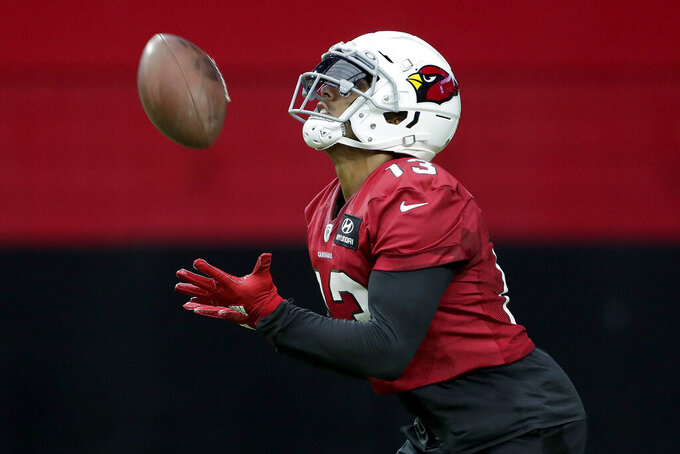 Cardinals' Kirk gets ready to catch more TDs from pal Murray