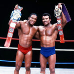 In this undated photo provided by WWE, Inc., Tony Atlas, left, and Rocky