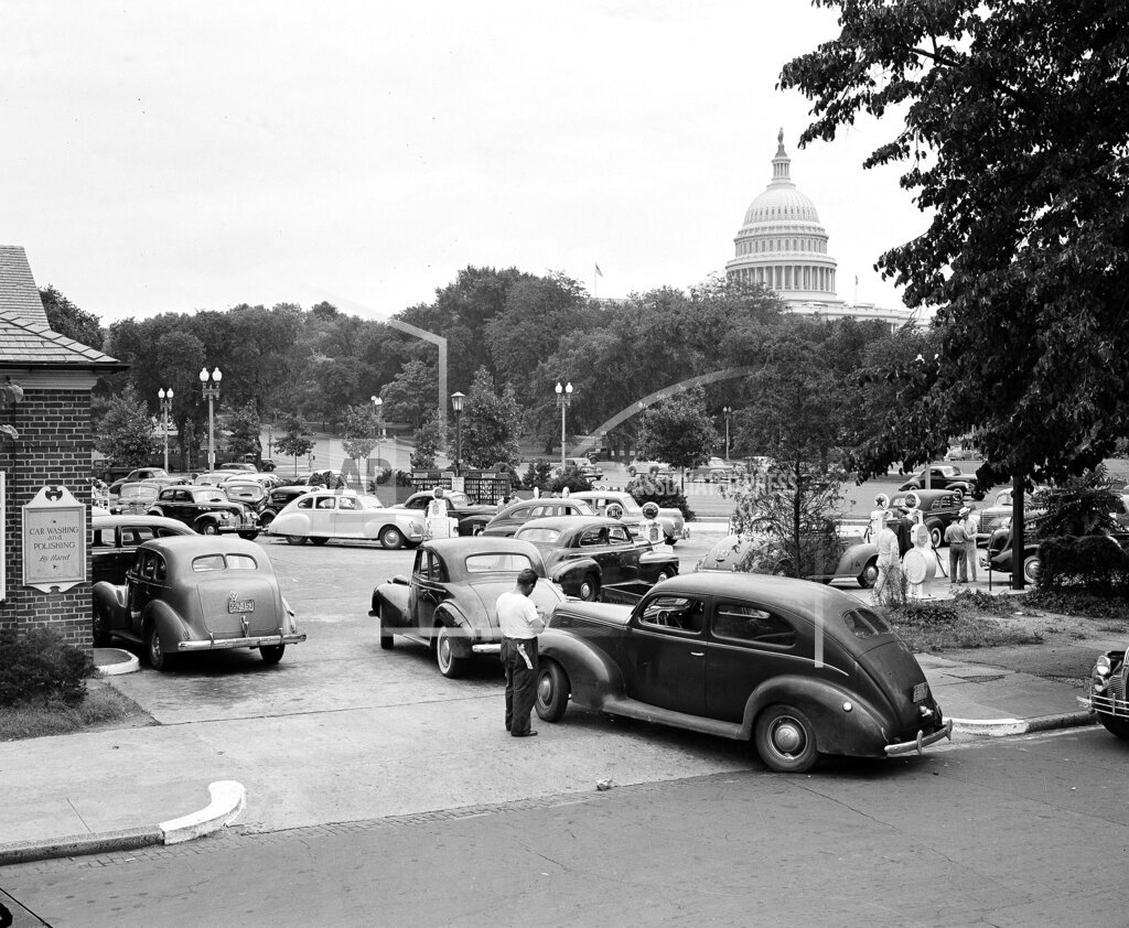 Watchf Associated Press Domestic News  Dist. of Col United States APHS103545 FDR Gasoline Rationing 1942