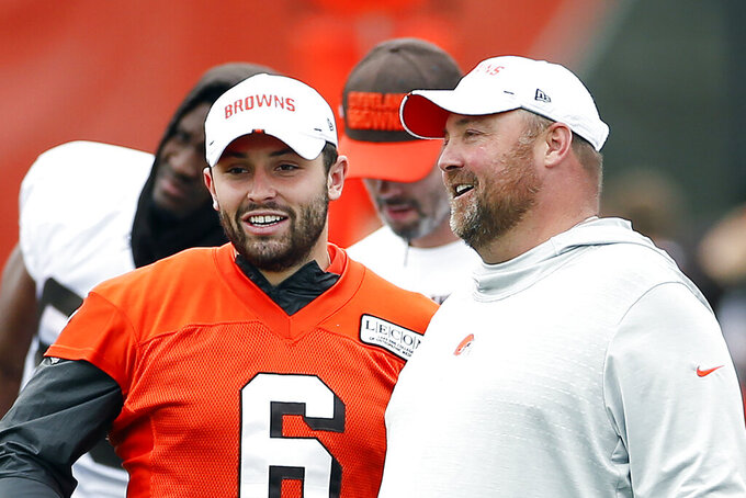 Browns coach unafraid Mayfield's comments make team target