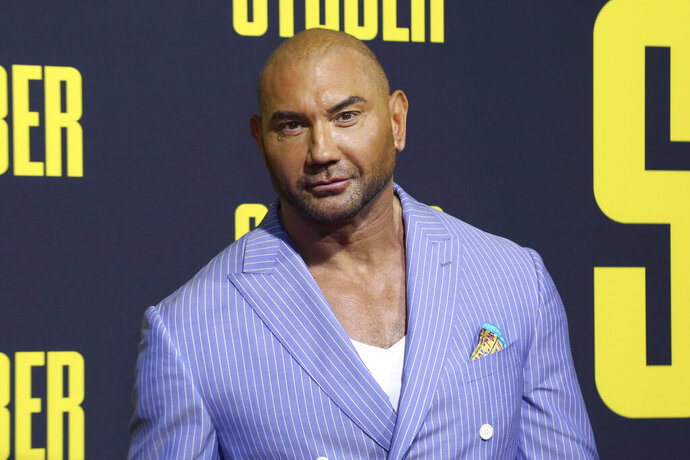 FILE -In this July 10, 2019, file photo, Dave Bautista attends the LA Premiere of