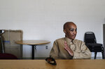 In this May 9, 2019 photo, Cheryl Lidel takes part in an interview with The Associated Press in the Washington Correctional Center in Shelton, Wash. Lidel is among a small group of inmates who are set to stay in Washington state prisons for life who were left out of the latest in a multi-year wave of reforms easing tough-on-crime