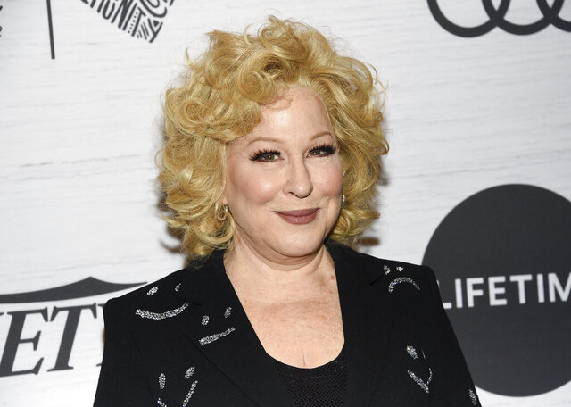 FILE - Bette Midler attends Variety's Power of Women: New York on April 5, 2019, in New York. Midler is using words and pictures to tell a New York story. Random House Books for Young Readers said Thursday that Midler's picture book will be called