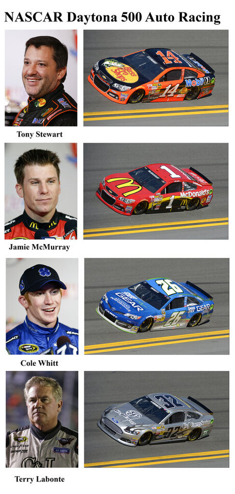 Tony Stewart, Jamie McMurray, Cole Whitt, Terry Labonte