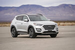This undated photo from Hyundai shows the Tucson, a small SUV that features a surround-view monitor, which provides drivers with a bird's-eye view of the vehicle when parking. (Courtesy of Hyundai Motor America via AP)