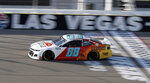 Alex Bowman drives during a NASCAR Cup Series auto race Sunday, Sept. 27, 2020, in Las Vegas. (AP Photo/Isaac Brekken)
