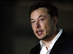 Tesla CEO and founder of the Boring Company Elon Musk speaks at a news conference Thursday, June 14, 2018, in Chicago. The Boring Company has been selected to build a high-speed underground transportation system that it says will whisk passengers from downtown Chicago to O'Hare International Airport in mere minutes. (AP Photo/Kiichiro Sato)