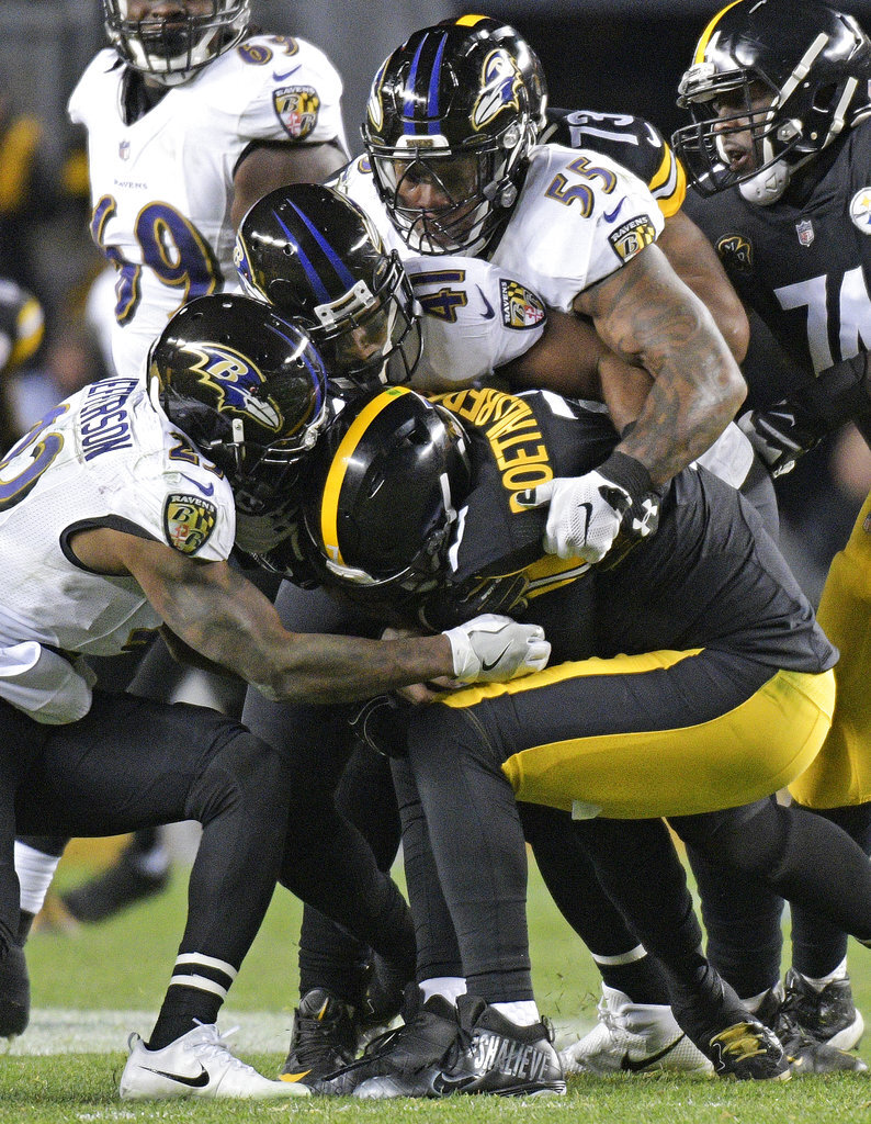 Ben Roethlisberger, Terrell Suggs, Anthony Levine, Tony Jefferson