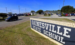 FILE - This Friday, Oct. 28, 2016 photo, shows the Gainesville State School for juveniles in Gainesville, Texas. A new federal report has found the number of kids who say they've been sexually victimized while in juvenile detention centers is dropping across the U.S. compared to years past. But remarkably high rates of sexual victimization persist in 12 facilities stretching from Oregon to Florida, including Gainesville, according to the U.S. Bureau of Justice Statistic's special report released Wednesday, Dec. 11, 2019. (Jae S. Lee/The Dallas Morning News via AP, File)