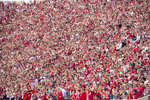 Indiana fans pack the stadium for the kickoff of an NCAA college football game against Idaho, Saturday, Sept. 11, 2021, in Bloomington, Ind. (AP Photo/Doug McSchooler)
