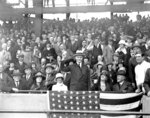FILE - In this Oct. 4, 1924, file photo, U.S. President Calvin Coolidge throws out the ball for the opening game of the 1924 World Series between the Washington Senators and the New York Giants in Washington. (AP Photo/File)