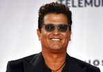 Carlos Vives arrives at the Billboard Latin Music Awards on Wednesday, Oct. 21, 2020, at the BB&T Center in Sunrise, Fla. (Jim Rassol/Invision/AP)