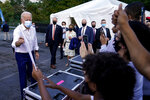Democratic presidential candidate former Vice President Joe Biden greets supporters during a drive-in rally at Cellairis Amphitheatre in Atlanta, Tuesday, Oct. 27, 2020. (AP Photo/Andrew Harnik)