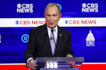 Democratic presidential candidates former New York City Mayor Mike Bloomberg, speaks during a Democratic presidential primary debate at the Gaillard Center, Tuesday, Feb. 25, 2020, in Charleston, S.C., co-hosted by CBS News and the Congressional Black Caucus Institute. (AP Photo/Patrick Semansky)