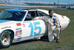 FILE - This is a 1975, file photo showing race car driver Buddy Baker poses at Daytona Speedway in Daytona Beach, Fla. Baker, a former Daytona 500 winner who passed away in 2015, will be inducted into the NASCAR Hall of Fame. (AP Photo/File)