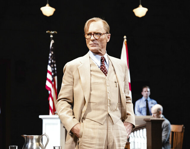 """This image released by DKC/O&M shows Ed harris in a scene from the play """"To Kill a Mockingbird,"""