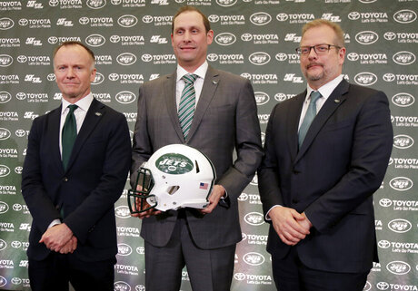 Adam Gase, Mike Maccagnan, Christopher Johnson