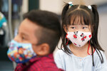 Pre-K students wear face masks to protect against the coronavirus during a class at the Dr. Charles Smith Early Childhood Center, Thursday, Sept. 16, 2021, in Palisades Park, N.J. Gov. Phil Murphy toured the school before announcing plans to plans to provide universal pre-K for all families in New Jersey. (AP Photo/Mary Altaffer)
