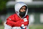 Houston Texans quarterback Deshaun Watson (4) a new drill during NFL football practice Wednesday, July 28, 2021, in Houston. (AP Photo/Justin Rex)