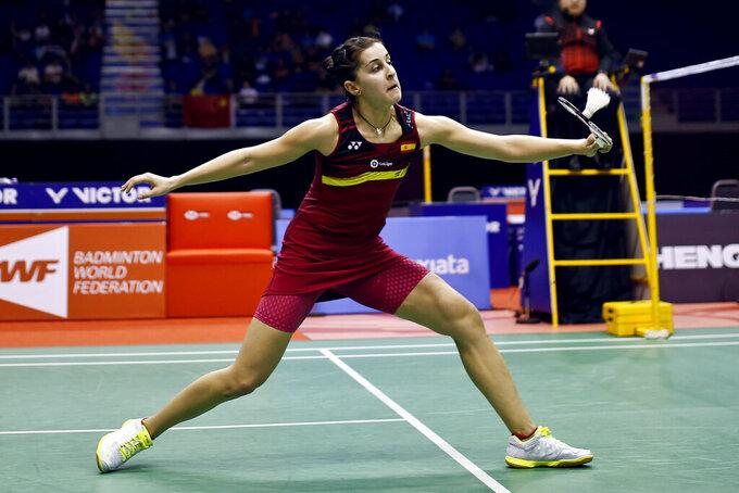 Olympic badminton champion Marin injured, won't defend title