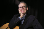 "This Oct. 11, 2019 photo shows singer, songwriter John Hiatt during an interview in New York to promote his box set ""Only the Song Survives,"" available on Friday. (AP Photo/Richard Drew)"