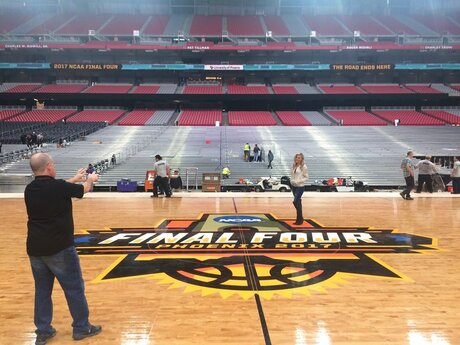 NCAA Final Four Floor Basketball
