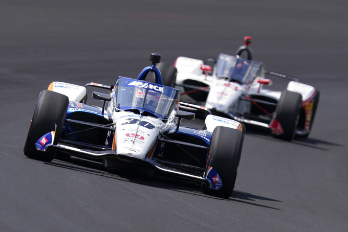 The Latest: Sato wins 2nd Indy 500 as race ends under yellow