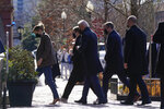 President Joe Biden arrives to attend Mass at Holy Trinity Catholic Church, Sunday, Jan. 24, 2021, in the Georgetown neighborhood of Washington. (AP Photo/Patrick Semansky)