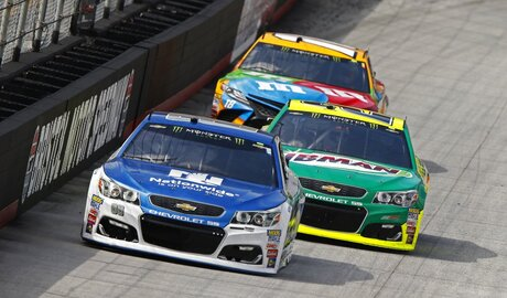 Dale Earnhardt Jr., Paul Menard, Kyle Busch