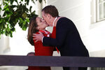 Canadian Deputy Prime Minister Chrystia Freeland, left, embraces U.S. Trade Representative Robert Lighthizer as she arrives at the U.S. Trade Representative's office for talks on the U.S.-Mexico-Canada agreement on trade, Wednesday, Nov. 27, 2019, in Washington. (AP Photo/Patrick Semansky)