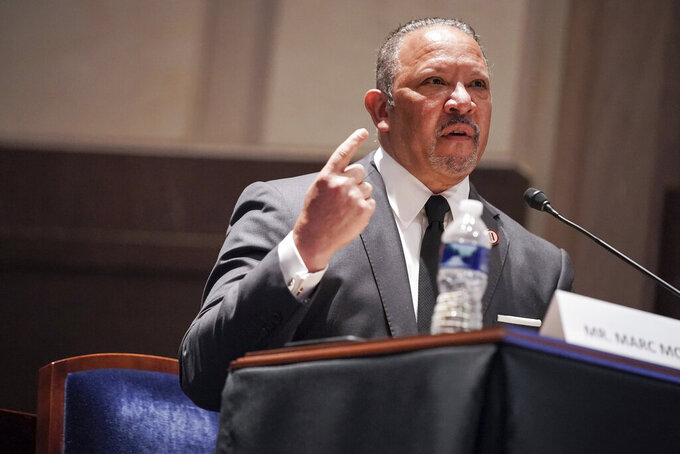 Marc Morial, President and CEO of the National Urban League, gives an opening statement during a House Judiciary Committee hearing on proposed changes to police practices and accountability on Capitol Hill, Wednesday, June 10, 2020, in Washington. (Greg Nash/Pool via AP)