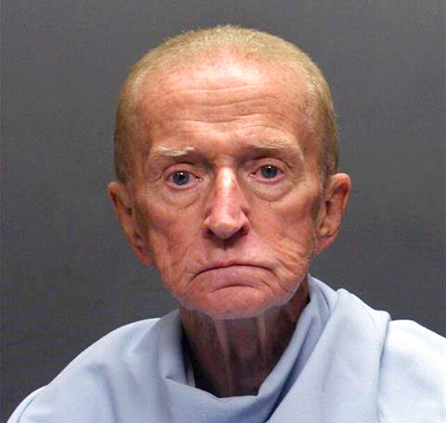 FILE - This photo released on Jan. 14, 2018, by the Tucson Police Department shows Robert Francis Krebs, who has a decades-long criminal record for stealing from banks. The 82-year-old was convicted Wednesday, March 4, 2020, on a federal armed bank robbery charge in the January 2018 holdup of a credit union in Tucson, Ariz. (Tucson Police Department via AP, File)