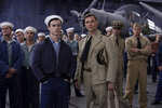 This image released by Lionsgate shows Keean Johnson, left, and Ed Skrein in a scene from