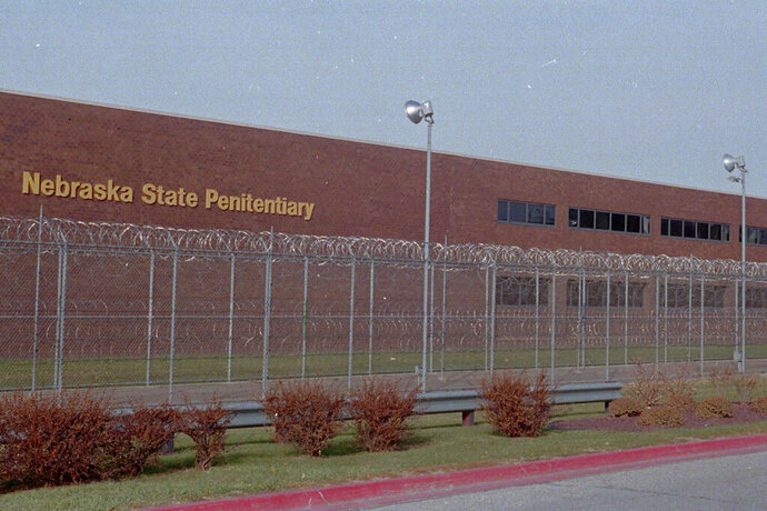 FILE - This undated file photo shows the Nebraska State Penitentiary in Lincoln, Neb. A Nebraska prisons watchdog has issued a warning about