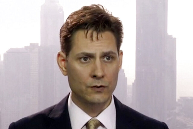 "FILE - In this March 28, 2018, file image made from video, Michael Kovrig, an adviser with the International Crisis Group, a Brussels-based non-governmental organization, speaks during an interview in Hong Kong. China told Prime Minister Justin Trudeau on Monday, June 22, 2020 to ""stop making irresponsible remarks"" after he said Beijing's decision to charge two Canadians with spying was linked to his country's arrest of a Chinese tech executive. (AP Photo, File)"