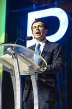 Democratic presidential candidate and South Bend, Ind. Mayor Pete Buttigieg speaks at the 2019 Essence Festival at the Ernest N. Morial Convention Center on Sunday, July 7, 2019, in New Orleans. (Photo by Amy Harris/Invision/AP)