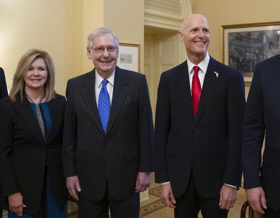 Mitch McConnell, Rick Scott, Marsha Blackburn