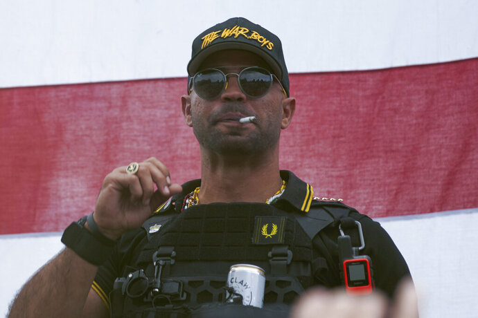 FILE - In this Sept. 26, 2020, file photo, Proud Boys leader Henry