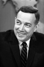FILE - In this March 10, 1966 file photo, Hugh Downs hosts the