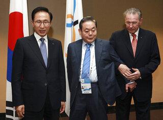 Jacques Rogge, Lee Myung-bak, Lee Kun-hee