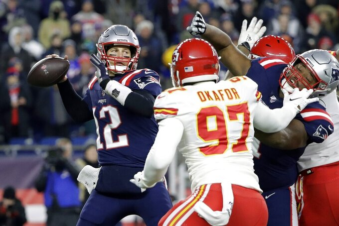 Kansas City Chiefs at New England Patriots 12/8/2019