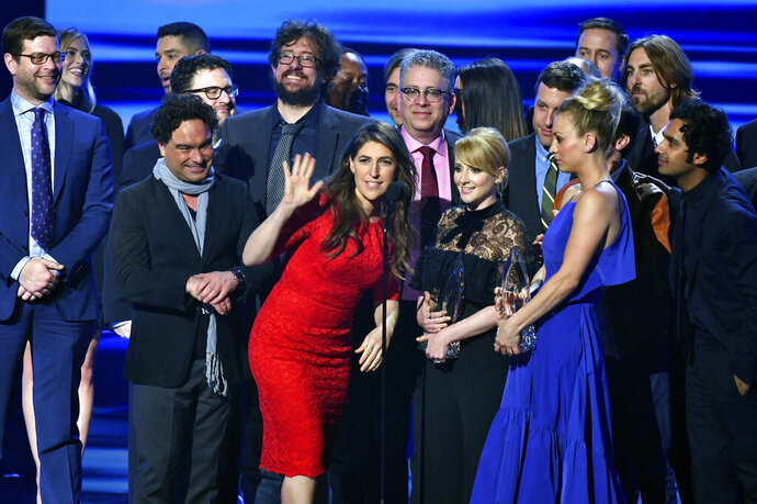FILE - In this Jan. 18, 2017 file photo, the cast and crew of