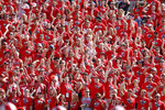 Utah fans show support for their team in the first half of an NCAA college football game against Northern Illinois Saturday, Sept. 9, 2019, Salt Lake City. (AP Photo/Rick Bowmer)