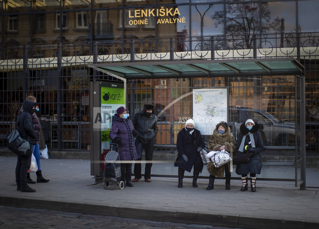 Virus Outbreak Lithuania Daily Life