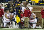 Michigan quarterback Shea Patterson (2) carries on an 81-yard run during the second quarter of an NCAA college football game against Wisconsin in Ann Arbor, Mich., Saturday, Oct. 13, 2018. (AP Photo/Tony Ding)