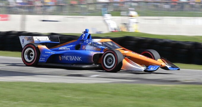 With fans back, Dixon wins at Road America for 3rd straight