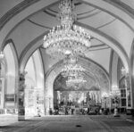 """This Oct. 27, 1960 file photo, shows a partial view of the Throne Hall of the Royal Golestan Palace, in Tehran, Iran. Iran's ancient and rich cultural landscape has become a potential U.S. military target as Washington and Tehran lob threats and take high-stakes steps toward a possible open conflict. President Donald Trump tweeted Saturday, Jan. 4, 2020, that if Iran targets any American assets to avenge the killing of a top Iranian general, the U.S. has 52 Iranian sites it will hit, including ones """"important to Iran & Iranian culture."""