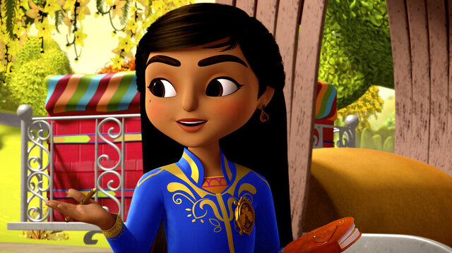 This image released by Disney Junior shows the character Mira, voiced by Leela Ladnier, from the animated series