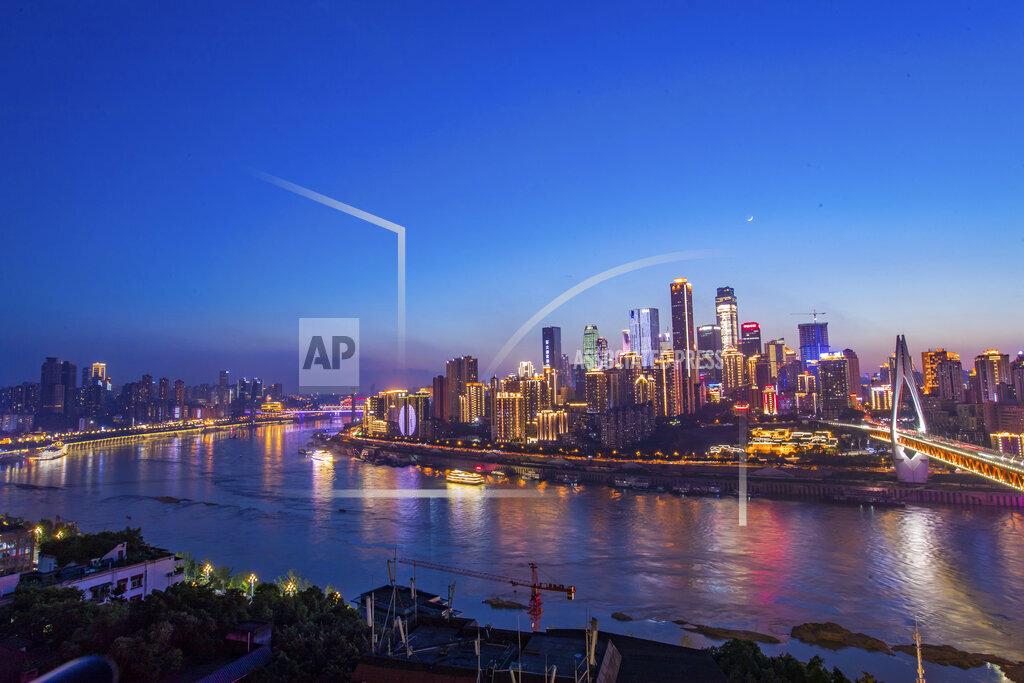 CHINA CHINESE CHONGQING URBAN VIEW SKYSCRAPERS SKYLINE TOURISM